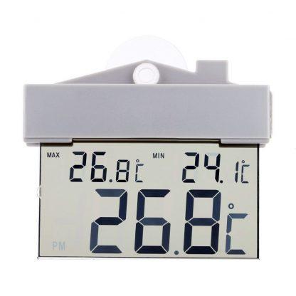 ЖК-термометр гигрометр на присоске купить в Москве по недорогой цене