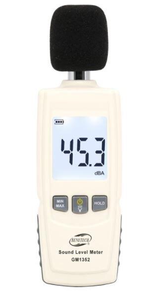 Цифровой шумомер GM1352 купить в Москве по недорогой цене