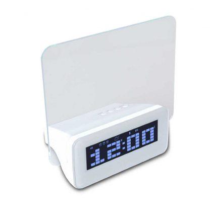 Часы-будильник с флуоресцентной доской объявлений и маркером (Синий) купить в Москве по недорогой цене