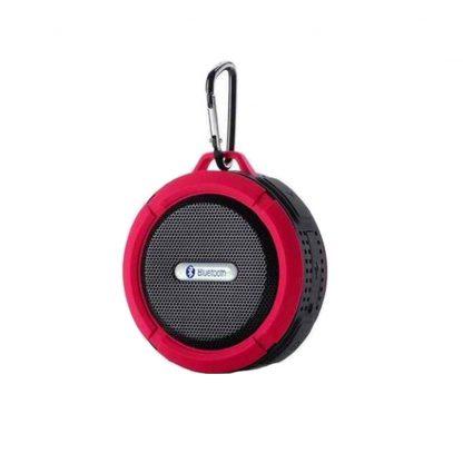 Портативная водонепроницаемая Bluetooth колонка C6 с присоской (Красный) купить в Москве по недорогой цене