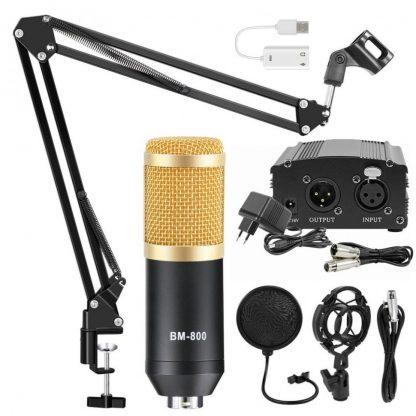 Комплект: конденсаторный микрофон BM800 (черный