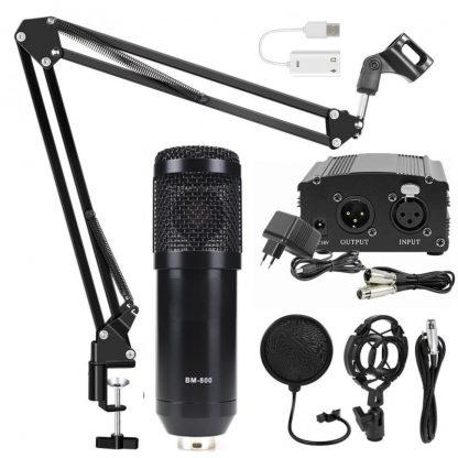 Комплект: конденсаторный микрофон BM800 (черный)