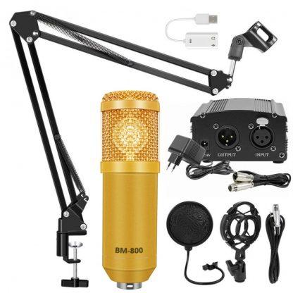 Комплект: конденсаторный микрофон BM800 (золотой)